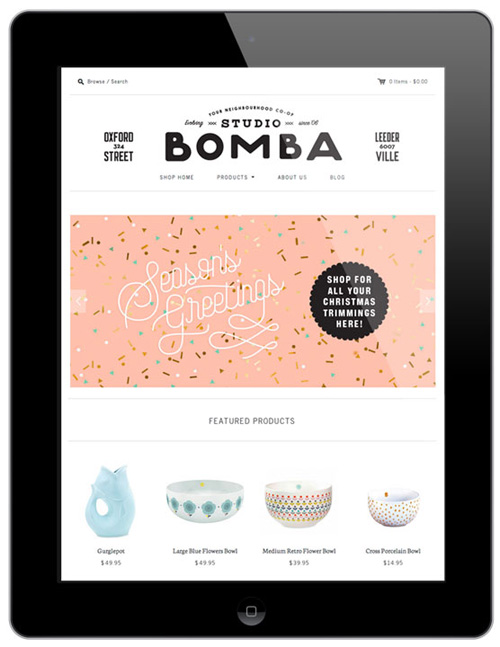 Studio Bomba Webstore